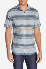 Blue Shirts for Men: Men's Vashon Short-Sleeve Shirt - Stripe