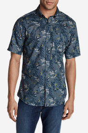 Blue Shirts for Men: Men's Vashon Short-Sleeve Shirt - Print