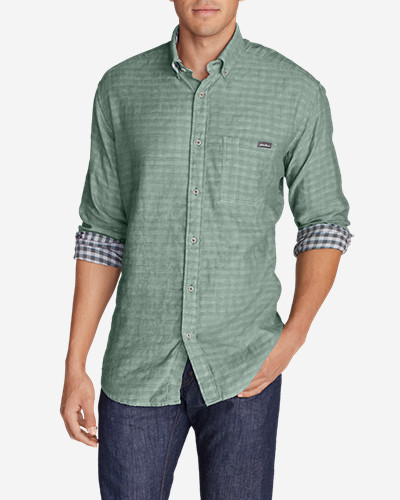 Green Shirts for Men: Men's Treeline II Long-Sleeve Shirt