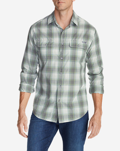 Green Shirts for Men: Men's Solus Long-Sleeve Shirt