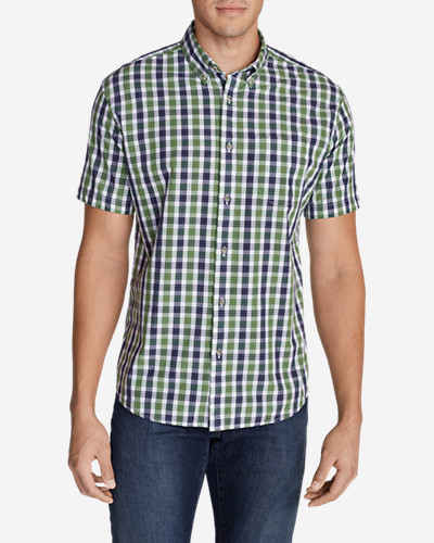 Green Shirts for Men: Men's Legend Wash Short-Sleeve Poplin Shirt