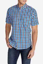 Blue Shirts for Men: Men's Legend Wash Short-Sleeve Poplin Shirt
