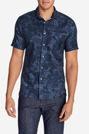 Blue Shirts for Men: Men's Larrabee II Short-Sleeve Shirt - Print