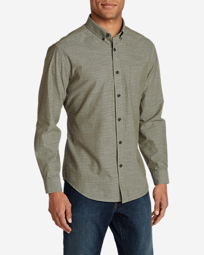 Green Shirts for Men: Men's Grifton Long-Sleeve Shirt - Print