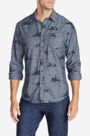 Comfortable Shirts for Men: Men's Grifton Long-Sleeve Shirt - Print
