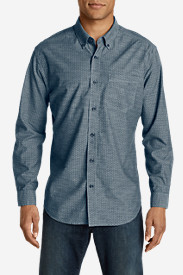 Blue Shirts for Men: Men's Grifton Long-Sleeve Shirt - Print