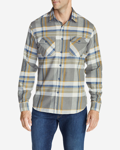 Green Shirts for Men: Men's Skywriter Long-Sleeve Shirt - Pattern