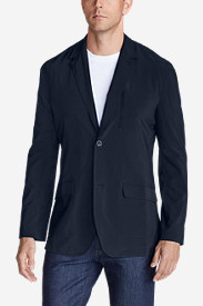 Spandex Jackets for Men: Men's Departure Tropical-Weight Packable Blazer