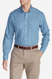 Men's Wrinkle-Free Relaxed Fit Pinpoint Oxford Shirt - Blues