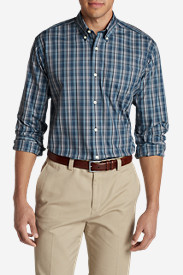 Men's Wrinkle-Free Slim Fit Pinpoint Oxford Shirt - Blues