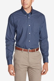 Blue Shirts for Men: Men's Wrinkle-Free Slim Fit Pinpoint Oxford Shirt - Blues