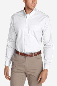 Men's Wrinkle-Free Slim-Fit Pinpoint Oxford Shirt - Solid