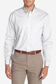 Comfortable Shirts for Men: Men's Wrinkle-Free Classic FIt Pinpoint Oxford Shirt - Solid