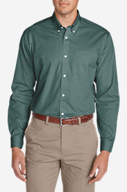 Button-Down Shirts for Men: Men's Wrinkle-Free Classic FIt Pinpoint Oxford Shirt - Solid