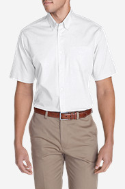 Oxford Dress Shirts for Men: Men's Wrinkle-Free Relaxed Fit Short-Sleeve Pinpoint Oxford Shirt - Solid