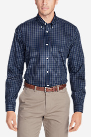 Comfortable Shirts for Men: Men's Wrinkle-Free Classic Fit Pinpoint Oxford Shirt - Blues