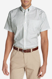 New Fall Arrivals: Men's Wrinkle-Free Relaxed Fit Short-Sleeve Oxford Cloth Shirt - Pattern