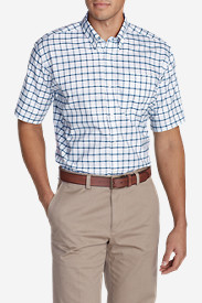 Men's Wrinkle-Free Relaxed Fit Short-Sleeve Oxford Cloth Shirt - Pattern