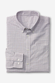 Shirts for Men: Men's Wrinkle-Free Relaxed Fit Oxford Cloth Shirt - Pattern