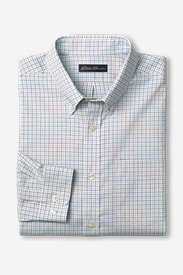 Big & Tall Shirts for Men: Men's Wrinkle-Free Relaxed Fit Oxford Cloth Shirt - Pattern