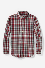 Men's Classic Fit Legend Wash Poplin Shirt - Plaid