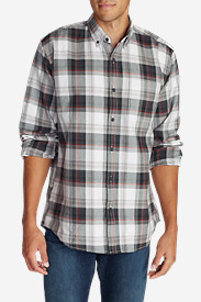 Black Shirts for Men: Men's Eddie's Favorite Flannel Relaxed Fit Shirt - Plaid