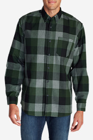 Green Flannel Shirts for Men: Men's Eddie's Favorite Flannel Relaxed Fit Shirt - Plaid