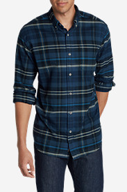 Blue Shirts for Men: Men's Eddie's Favorite Flannel Relaxed Fit Shirt - Plaid