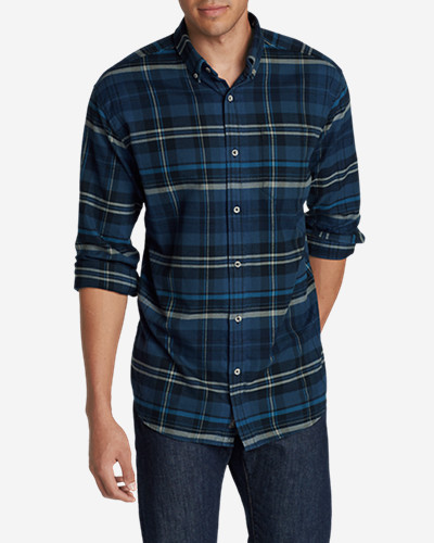 Big & Tall Shirts for Men: Men's Eddie's Favorite Flannel Relaxed Fit Shirt - Plaid