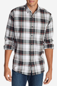 Black Shirts for Men: Men's Eddie's Favorite Flannel Slim Fit Shirt