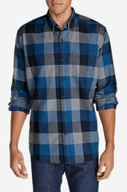Blue Shirts for Men: Men's Eddie's Favorite Flannel Slim Fit Shirt