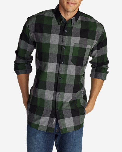 Green Shirts for Men: Men's Eddie's Favorite Flannel Slim Fit Shirt