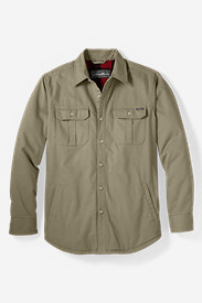 Men's Relaxed Fit Legend Wash Fleece-Lined Shirt Jacket