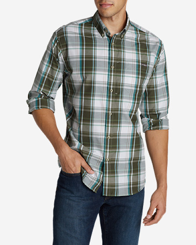 Green Shirts for Men: Men's On The Go Poplin Shirt