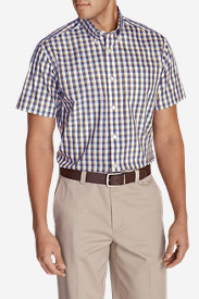 Men's Wrinkle-Free Relaxed Fit Pinpoint Oxford Shirt - Short-Sleeve Pattern