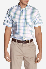 Comfortable Shirts for Men: Men's Wrinkle-Free Relaxed Fit Pinpoint Oxford Shirt - Short-Sleeve Pattern