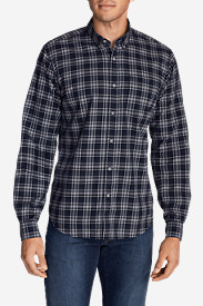 Twill Shirts for Men: Men's Signature Twill Relaxed Fit Long-Sleeve Shirt - Pattern