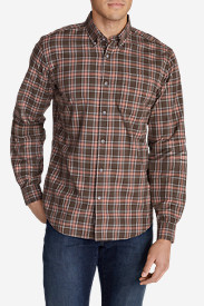 Men's Signature Twill Relaxed Fit Long-Sleeve Shirt - Pattern