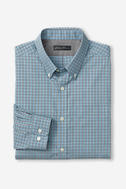 Men's Wrinkle-Free Relaxed Fit Pinpoint Oxford Shirt - Long-Sleeve Seasonal Pattern