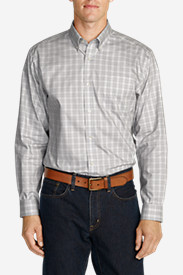 Men's Wrinkle-Free Slim Fit Pinpoint Oxford Shirt - Long-Sleeve Seasonal Pattern