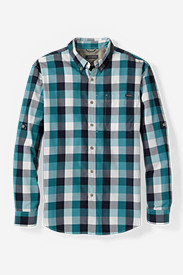 Blue Shirts for Men: Men's On The Go Poplin Shirt