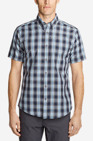 Blue Shirts for Men: Men's On The Go Short-Sleeve Poplin Shirt