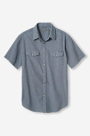 Blue Shirts for Men: Men's Vashon Short-Sleeve Shirt - Dobby Stripe