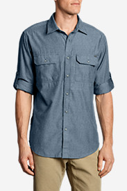 Blue Shirts for Men: Men's On The Go Herringbone Shirt