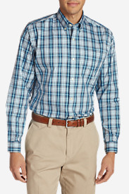 Men's Wrinkle-Free Pinpoint Oxford Relaxed Fit Long-Sleeve Shirt - Seasonal Pattern (copy)