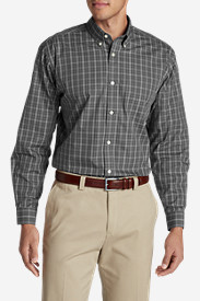 Comfortable Shirts for Men: Men's Wrinkle-Free Pinpoint Oxford Relaxed Fit Long-Sleeve Shirt - Seasonal Pattern