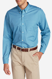 Long Sleeve Shirts for Men: Men's Wrinkle-Free Pinpoint Oxford Relaxed Fit Long-Sleeve Shirt - Seasonal Pattern (copy)
