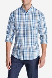 Long Sleeve Shirts for Men: Men's Legend Wash Long-Sleeve Poplin Shirt - Pattern