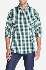 Big & Tall Shirts for Men: Men's Legend Wash Long-Sleeve Poplin Shirt - Pattern