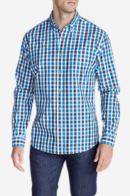 Blue Shirts for Men: Men's Legend Wash Long-Sleeve Poplin Shirt - Pattern